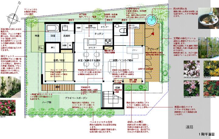 緑化住宅 二世帯住宅