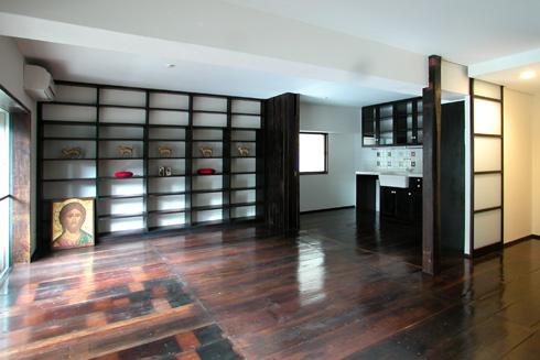 古民家の解体材でマンションリフォーム ユミラ建築設計室の仕事